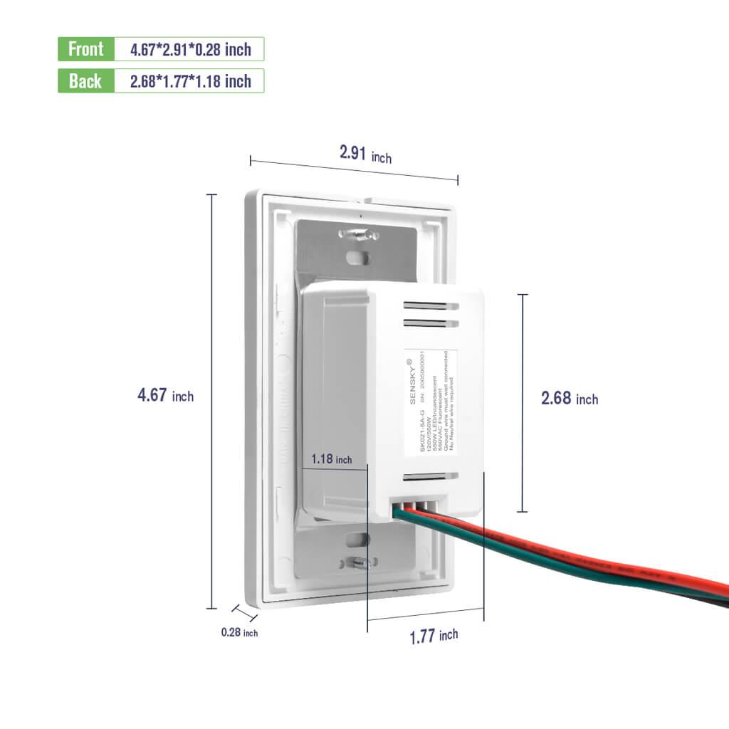us rz021 motion sensor dimension instruction